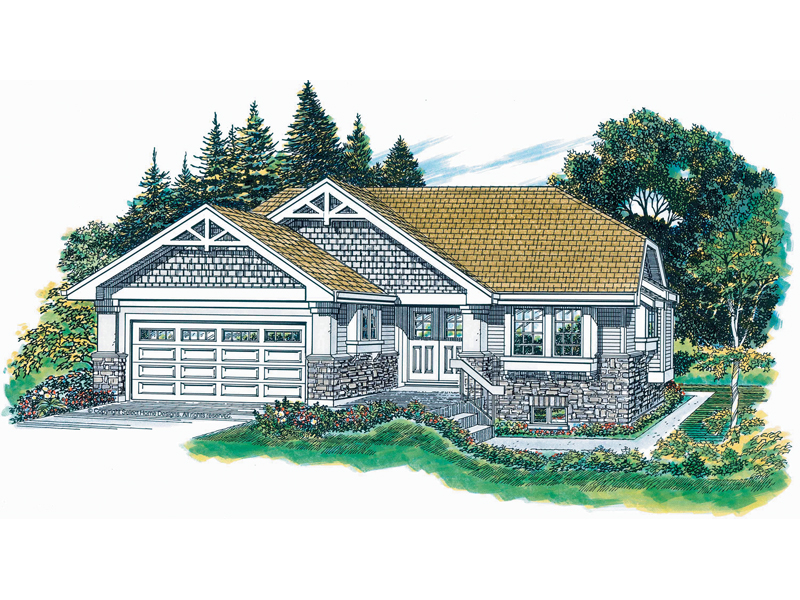 Ranch House Plan Front of Home - 062D-0365 | House Plans and More