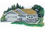 Traditional House Plan Front of Home - 062D-0365 | House Plans and More