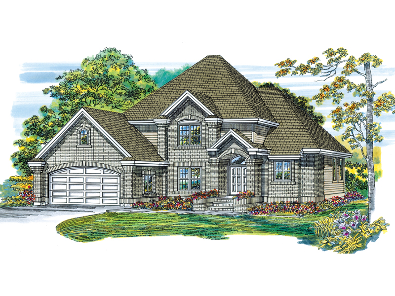 Traditional House Plan Front of Home - 062D-0366 | House Plans and More