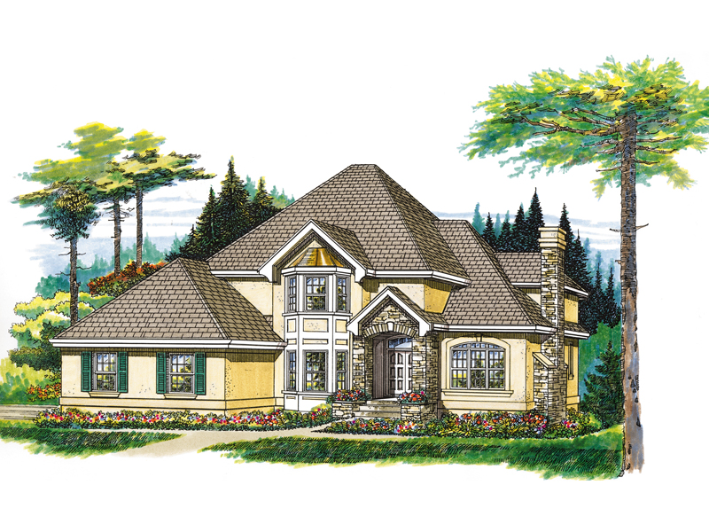 Traditional House Plan Front of Home - 062D-0367 | House Plans and More