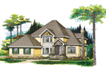 Contemporary House Plan Front of Home - 062D-0367 | House Plans and More