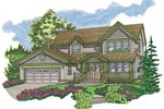Farmhouse Plan Front of Home - 062D-0368 | House Plans and More