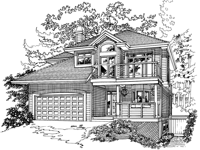 Country House Plan Front of Home - 062D-0369 | House Plans and More