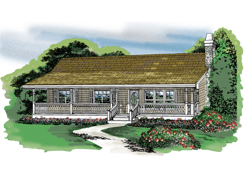 Acadian House Plan Front of Home - 062D-0370 | House Plans and More