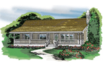 Ranch House Plan Front of Home - 062D-0370 | House Plans and More
