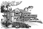 Country House Plan Front of Home - 062D-0371 | House Plans and More