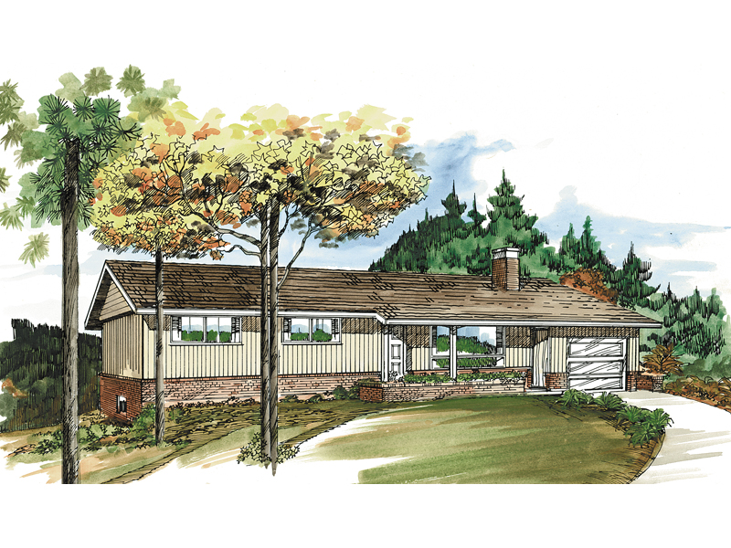 Rustic Ranch With Covered Porch