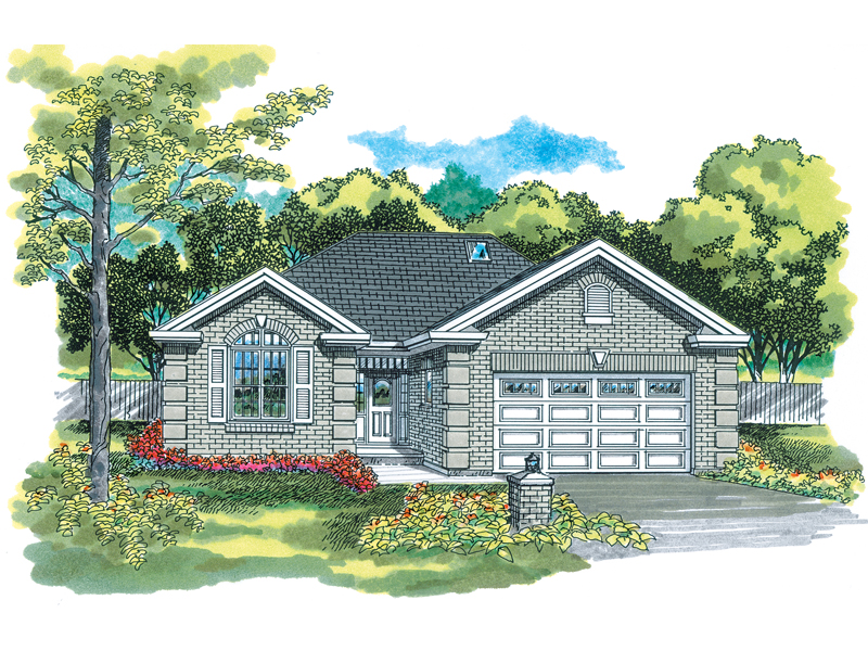 Traditional House Plan Front of Home - 062D-0389 | House Plans and More
