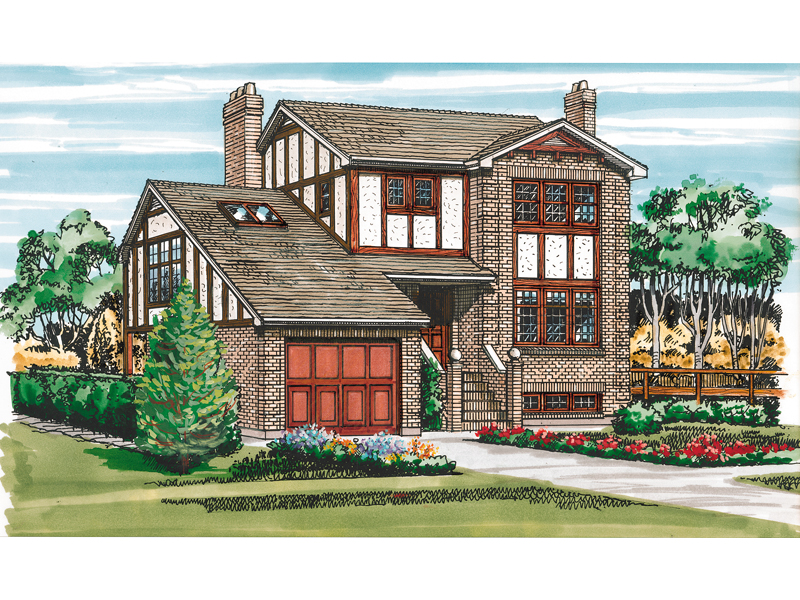 Distinctive Multi-Level Tudor Home
