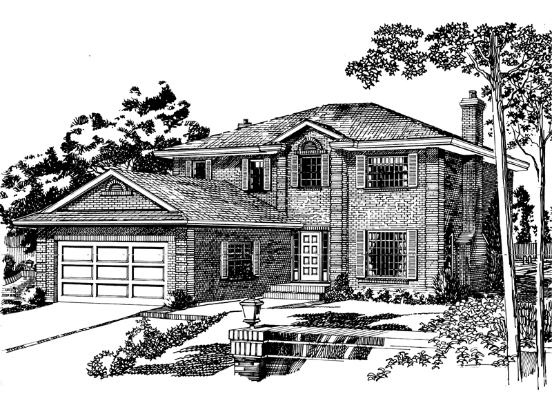 Traditional House Plan Front of Home - 062D-0426 | House Plans and More