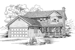 Farmhouse Home Plan Front of Home - 062D-0431 | House Plans and More