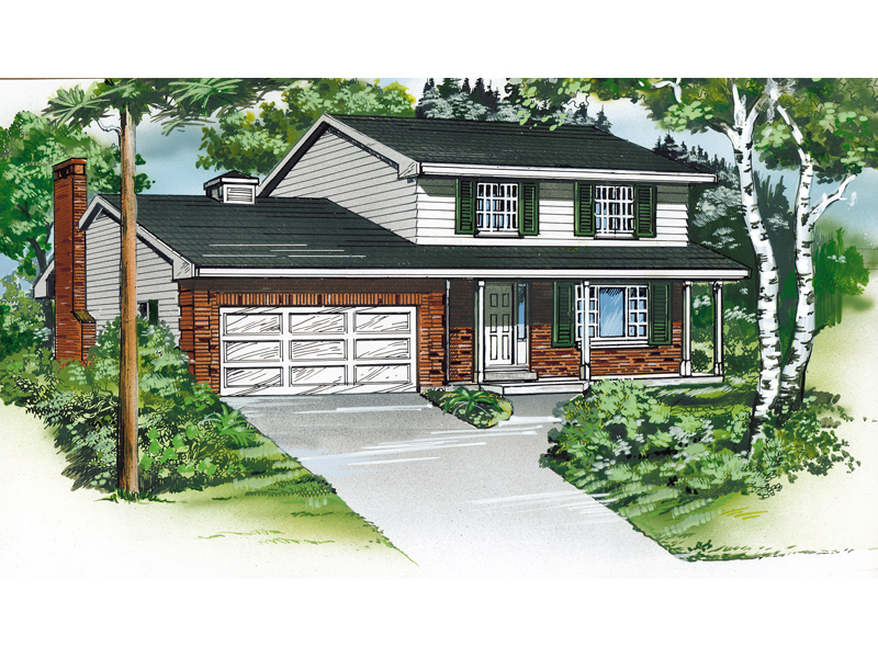 Traditional House Plan Front of Home - 062D-0432 | House Plans and More