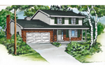 Colonial Floor Plan Front of Home - 062D-0432 | House Plans and More