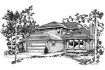 Traditional House Plan Front of Home - 062D-0435 | House Plans and More