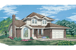 Traditional House Plan Front of Home - 062D-0436 | House Plans and More