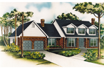 Traditional House Plan Front of Home - 062D-0437 | House Plans and More