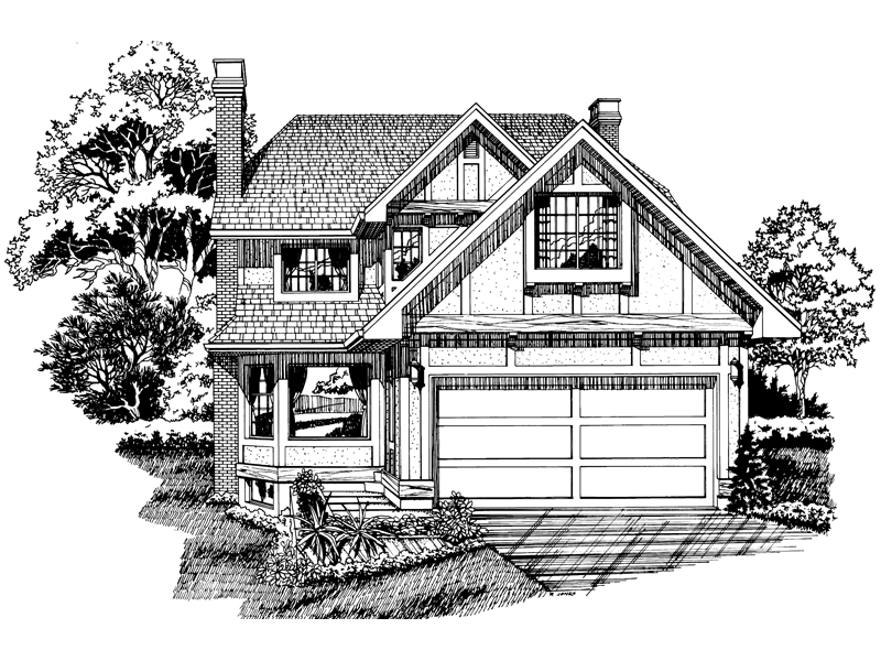 European House Plan Front of Home - 062D-0438 | House Plans and More