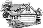 English Tudor House Plan Front of Home - 062D-0438 | House Plans and More