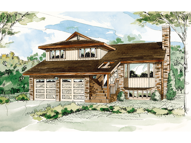 Mountain Home Plan Front of Home - 062D-0439 | House Plans and More