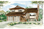 Vacation Home Plan Front of Home - 062D-0439 | House Plans and More