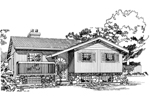 Ranch House Plan Front of Home - 062D-0440 | House Plans and More