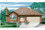 Ranch House Plan Front of Home - 062D-0441 | House Plans and More