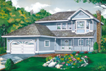Farmhouse Plan Front of Home - 062D-0442 | House Plans and More