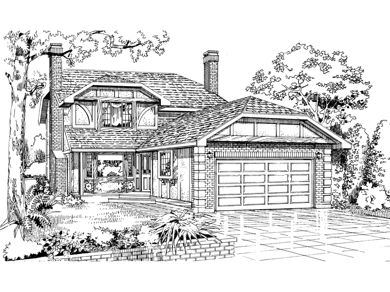 Country House Plan Front of Home - 062D-0443 | House Plans and More