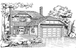 Traditional House Plan Front of Home - 062D-0443 | House Plans and More