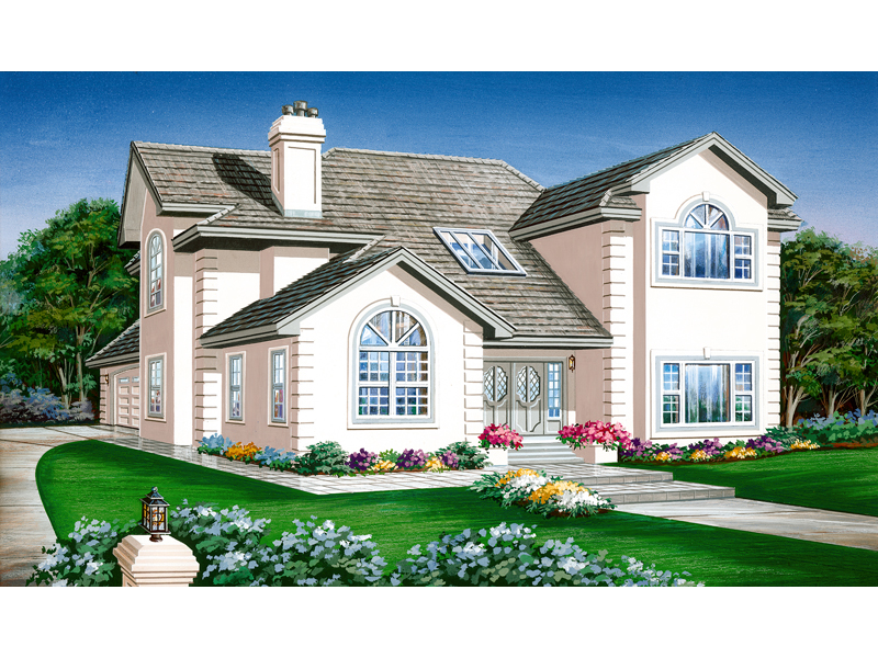 Contemporary House Plan Front of Home - 062D-0446 | House Plans and More