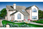 Traditional House Plan Front of Home - 062D-0446 | House Plans and More
