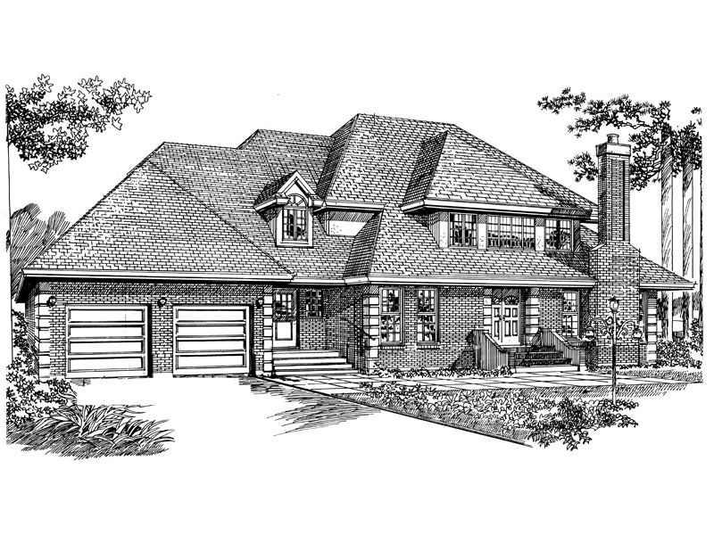 Traditional House Plan Front of Home - 062D-0447 | House Plans and More