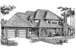 Country House Plan Front of Home - 062D-0447 | House Plans and More