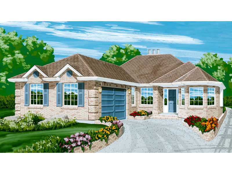 Traditional House Plan Front of Home - 062D-0448 | House Plans and More