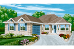Ranch House Plan Front of Home - 062D-0448 | House Plans and More