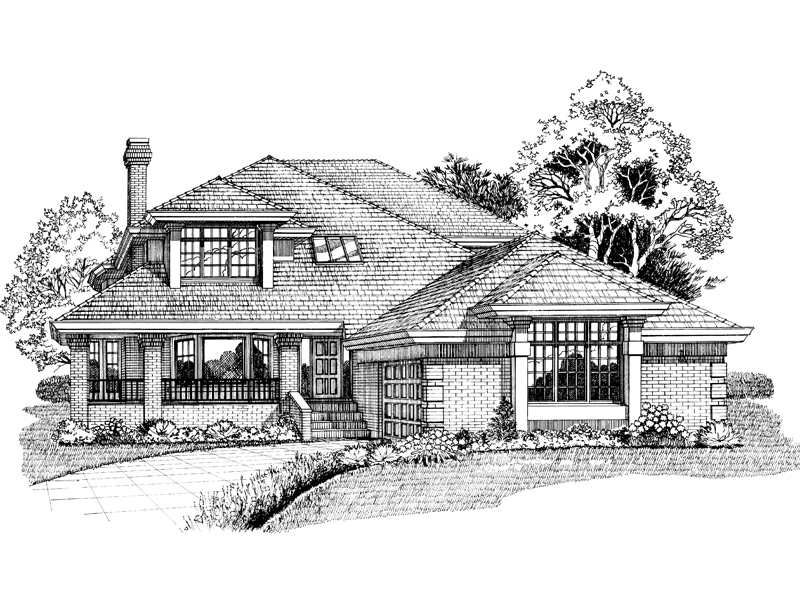 Country House Plan Front of Home - 062D-0450 | House Plans and More