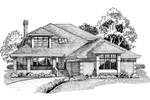 Traditional House Plan Front of Home - 062D-0450 | House Plans and More