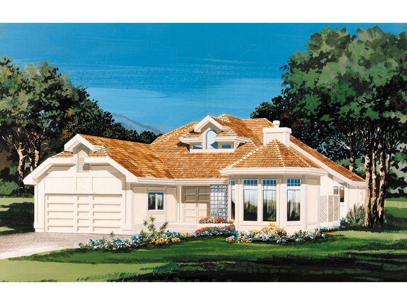 Sunbelt Home Plan Front of Home - 062D-0451 | House Plans and More