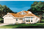 Contemporary House Plan Front of Home - 062D-0451 | House Plans and More