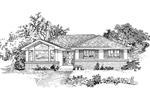Ranch House Plan Front of Home - 062D-0452 | House Plans and More