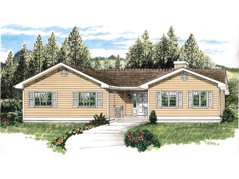 Traditional House Plan Front of Home - 062D-0454 | House Plans and More