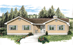 Ranch House Plan Front of Home - 062D-0454 | House Plans and More