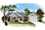 Traditional House Plan Front of Home - 062D-0456 | House Plans and More