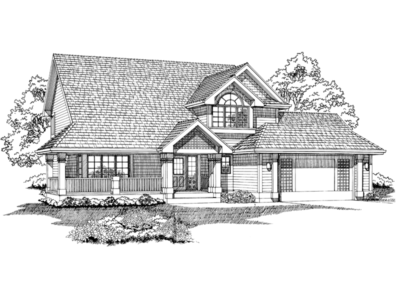 Country House Plan Front of Home - 062D-0457 | House Plans and More