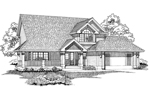 Traditional House Plan Front of Home - 062D-0457 | House Plans and More