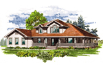 Farmhouse Plan Front of Home - 062D-0458 | House Plans and More