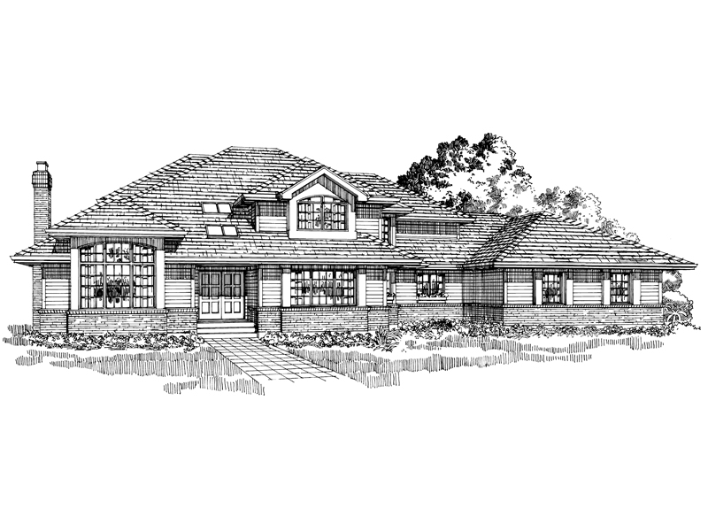 Luxury House Plan Front of Home - 062D-0459 | House Plans and More