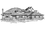 Traditional House Plan Front of Home - 062D-0459 | House Plans and More