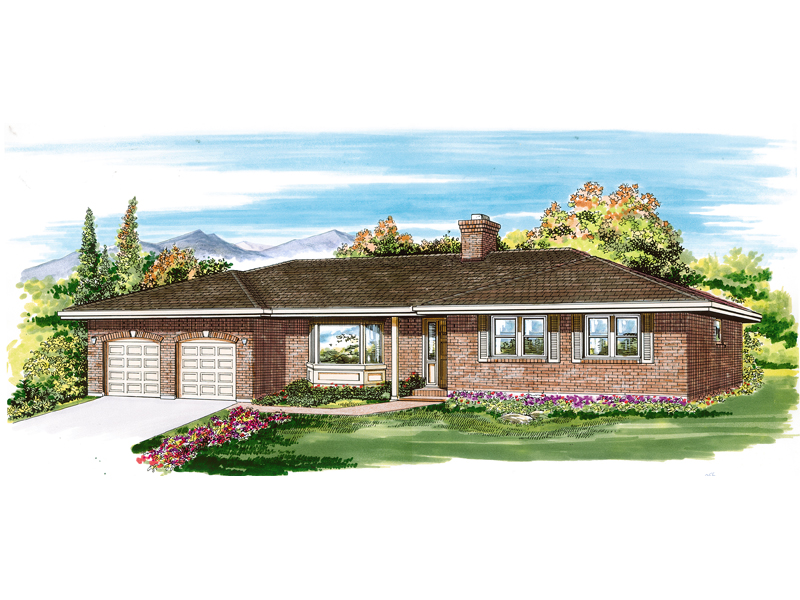 Traditional House Plan Front of Home - 062D-0460 | House Plans and More