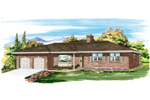 Ranch House Plan Front of Home - 062D-0460 | House Plans and More
